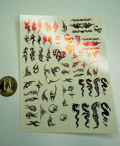 Tattoo Design Waterslide Decals