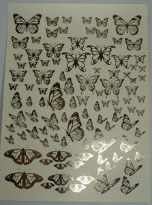 Butterfly Foil Water Slide Decals