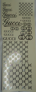 Gucci Full Sheet Foil Water Slide Decals