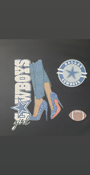 Glitter Football Stilettos with Number on Back