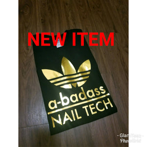Bad Ass Nail Tech Chrome T-shirt
