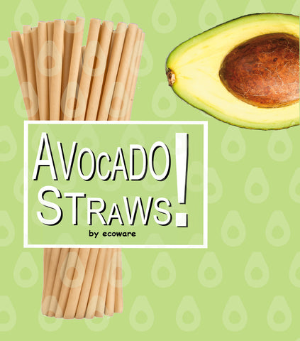 Avocado Straws Biodegradable and eco-friendly