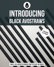 "Avocado Seed Straws BLACK | Extra Strength Biodegradable 8.27"" **Wrapped**"