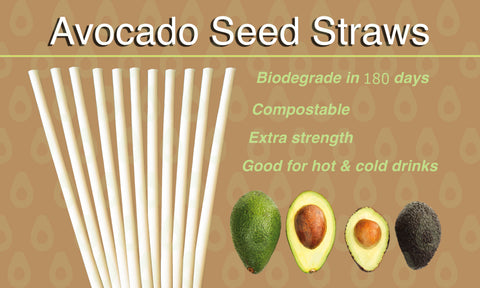 Biofase Avocado Seed Drinking Straws Compostable