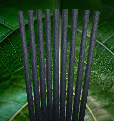 Avocado SEED Straws BLACK | Extra Strength Biodegradable 8.27""