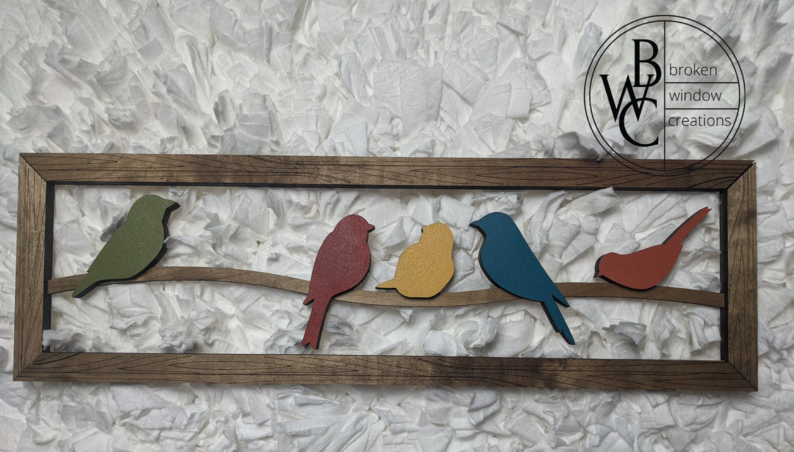 Birds on a Wire Sign