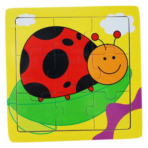 Bright Creatures Wooden Puzzle - Lady Bug (15cm)