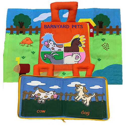My Barnyard Pets Book and Playmat