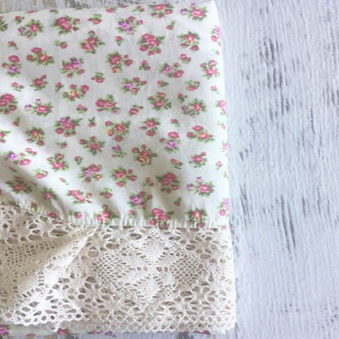 Couture Lace Swaddle - Tiny Petal Cream