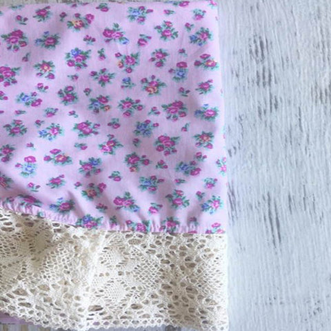 Couture Lace Swaddle - Tiny Petal Pink