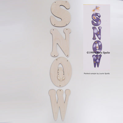 Snow Hanging Letters