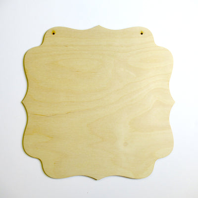 "12"" Fancy Square Plaque (1/8 birch)"