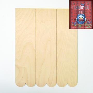 Grooved Scalloped Board
