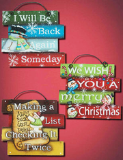 Holiday Stacked Signs