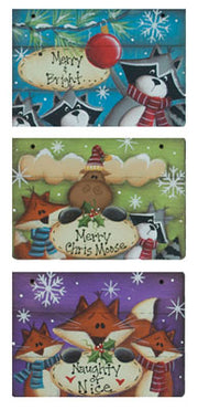 Mini Grooved Holiday Signs