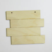 Grooved Stacked Ornament/Sign
