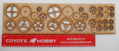Gears set of embellishments