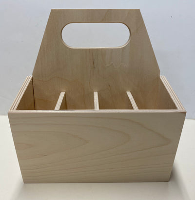 Brush and silverware caddy