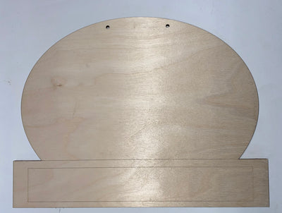 Oval Etched bottom sign