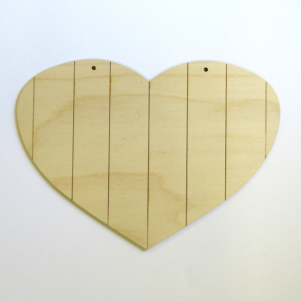 Large Vertical Grooved Heart