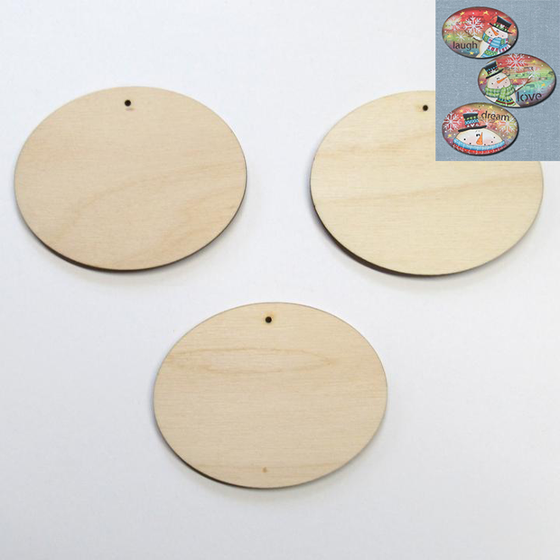 Oval Ornaments (Set of 3)