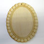 Scalloped Oval Etched Ornament