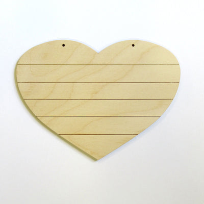 Small Horizontal Grooved Heart