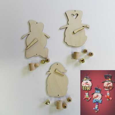 Snowman Head Spooler Ornaments