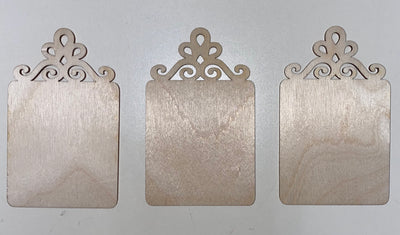 Scroll Top Orn set of 3
