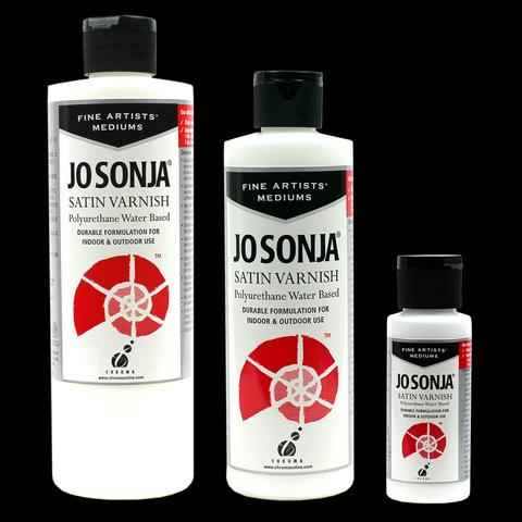 Jo Sonja Polyurethane Varnish-SATIN- 8oz