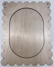 Scalloped Oval Board Birch