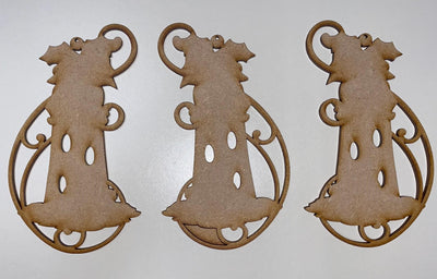 Lighthouse Trio Ornament set of 3