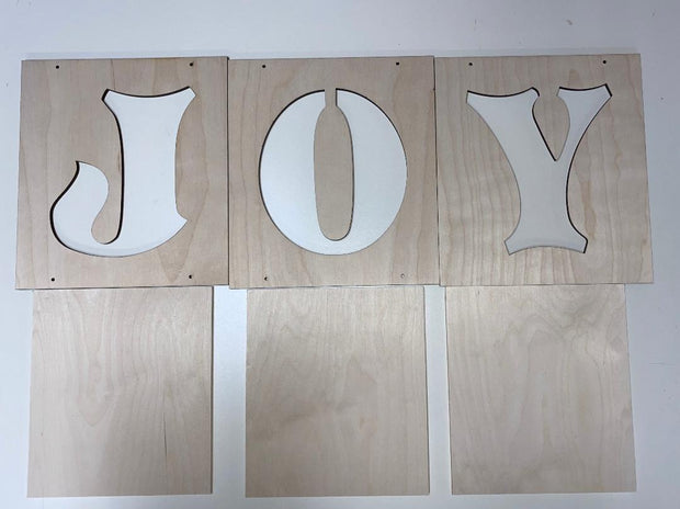 Santa Joy Block Hanging Letters