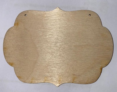 Round board ornament