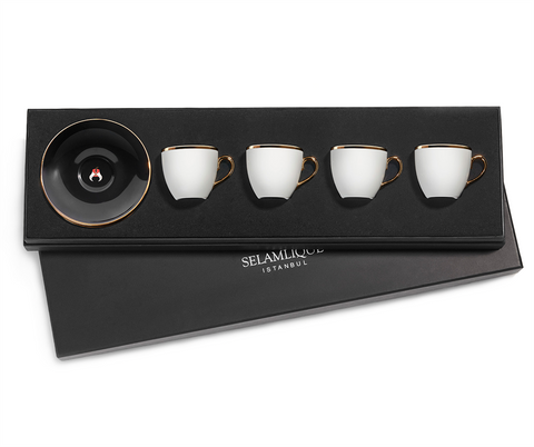 Selamlique Turkish Coffee Cup Kit | (4 Pieces)