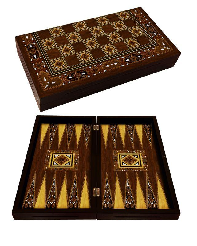 Antique Backgammon Board | Emek Backgammon Turkish Coffee Bazaar