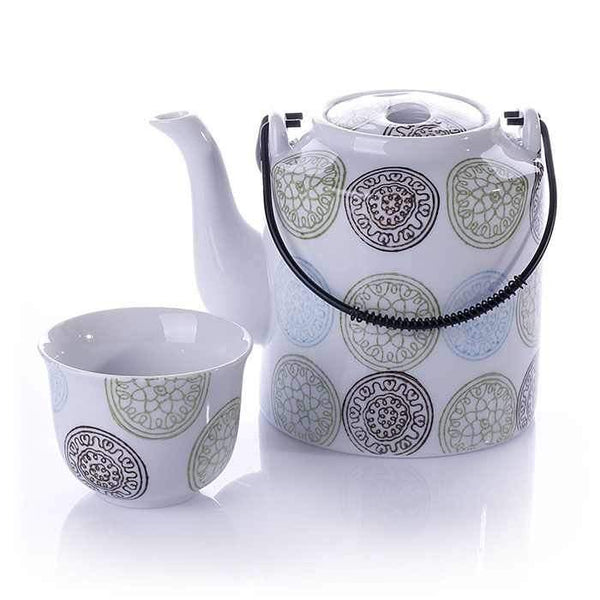 Beginner Turkish Tea Set | Porcelain Arma Tea Pots Turkish Coffee Bazaar