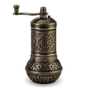 Brass Turkish Pepper & Spice Grinder | Fevzi Grinders Turkish Coffee Bazaar
