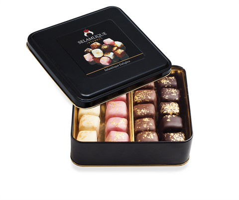 Chocolate Almond Turkish Delights | Mixed Flavours (220g) Delights and Delicacies Turkish Coffee Bazaar