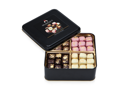 Chocolate Almond Turkish Delights | Mixed Flavours (800g) Delights and Delicacies Turkish Coffee Bazaar