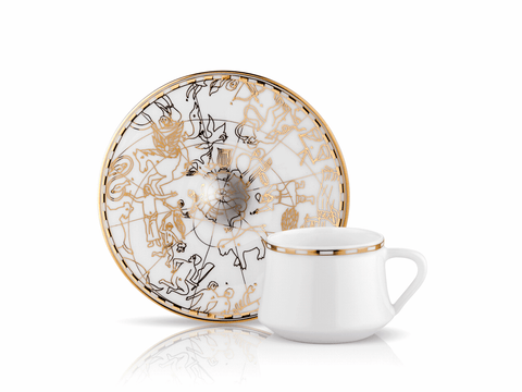 Irismano Turkish Coffee Cup Set | Patterned (6 Pieces) Coffee Cups Turkish Coffee Bazaar