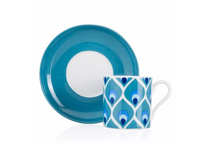 Patterned Turkish Coffee Cup Set | Evil Eye (2 Pieces) Coffee Cups Turkish Coffee Bazaar