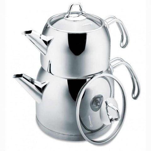 Stainless Steel Turkish Tea Pot | Korkmaz Provita Tea Pots Turkish Coffee Bazaar