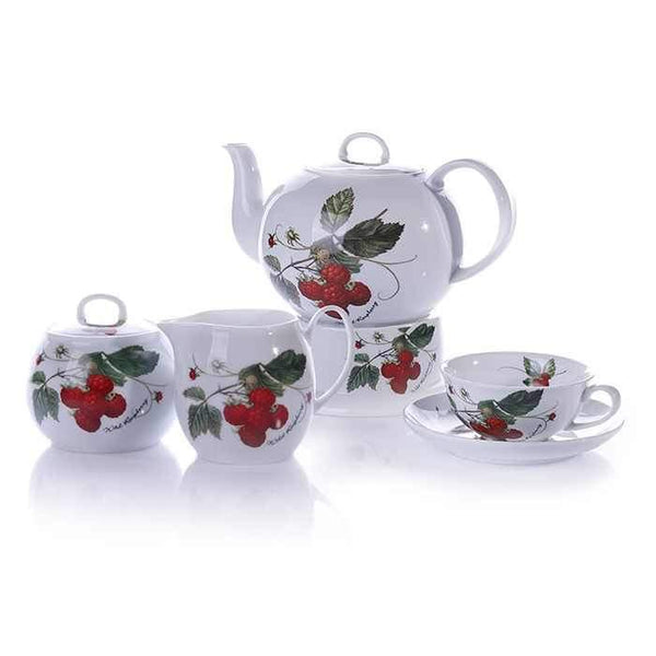 Traditional Turkish Tea Set | Porcelain Rasberries Tea Pots Turkish Coffee Bazaar
