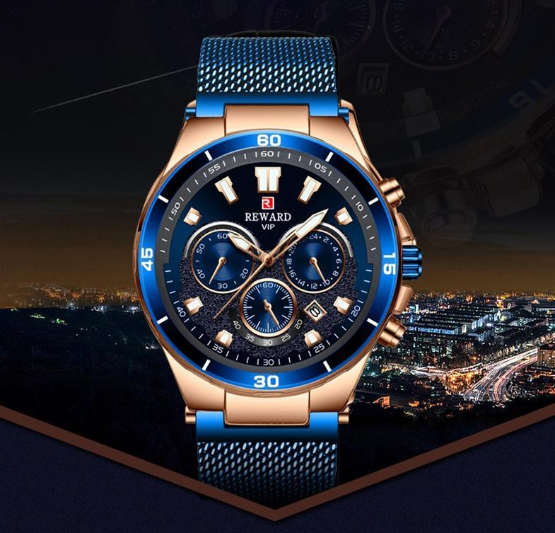 Men's Multi-function Waterproof Sports / Business Watch With Luminous Hands & 3D Cutting