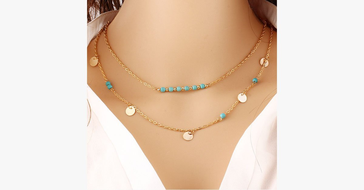 Turquoise Layer Necklace
