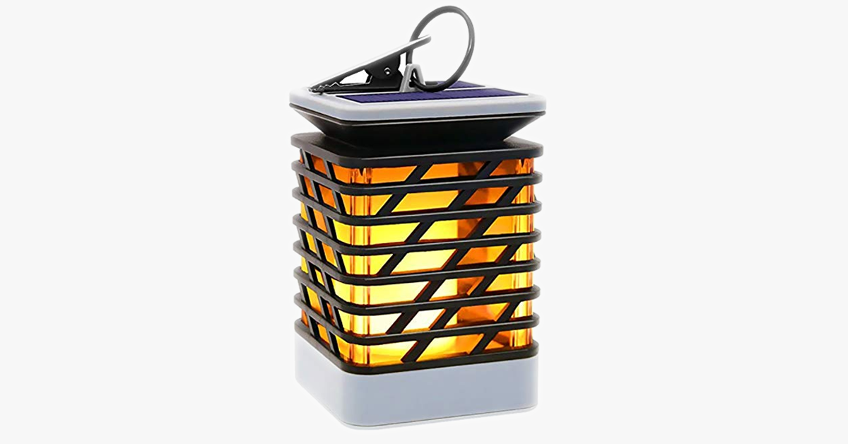 Waterproof Solar Flame Light – Do Your Bit For The Environment!