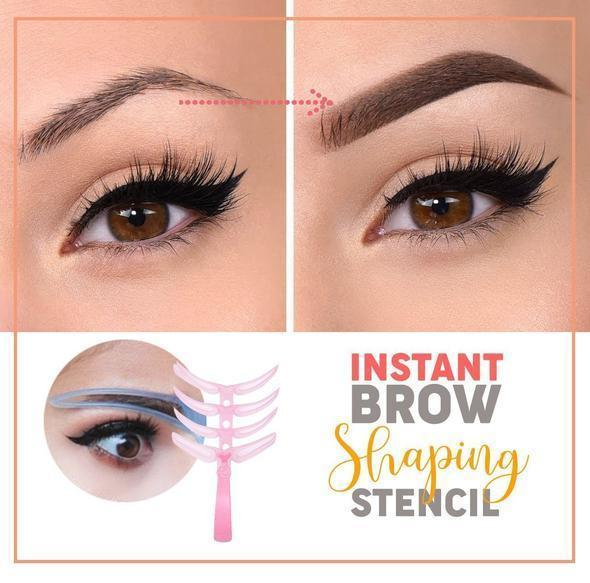 Instant Brow Shaping Stencil, 4 styles, (4pc set), Fill in Eyebrow Templates
