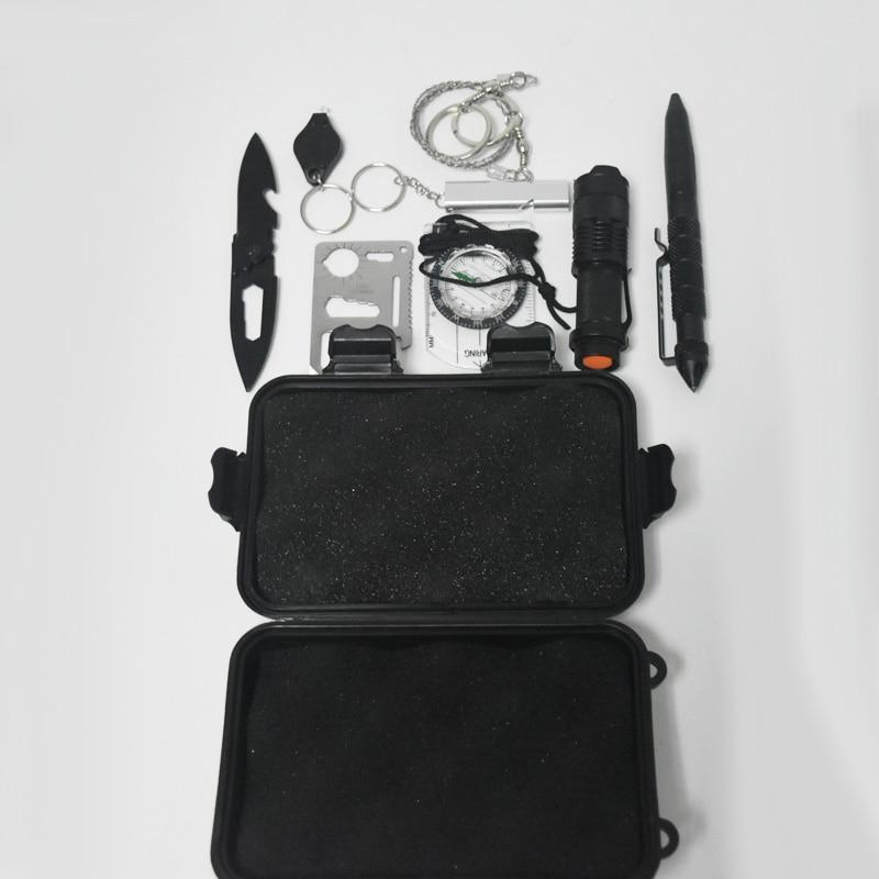 9 in 1 Outdoor Emergency Survival Kit
