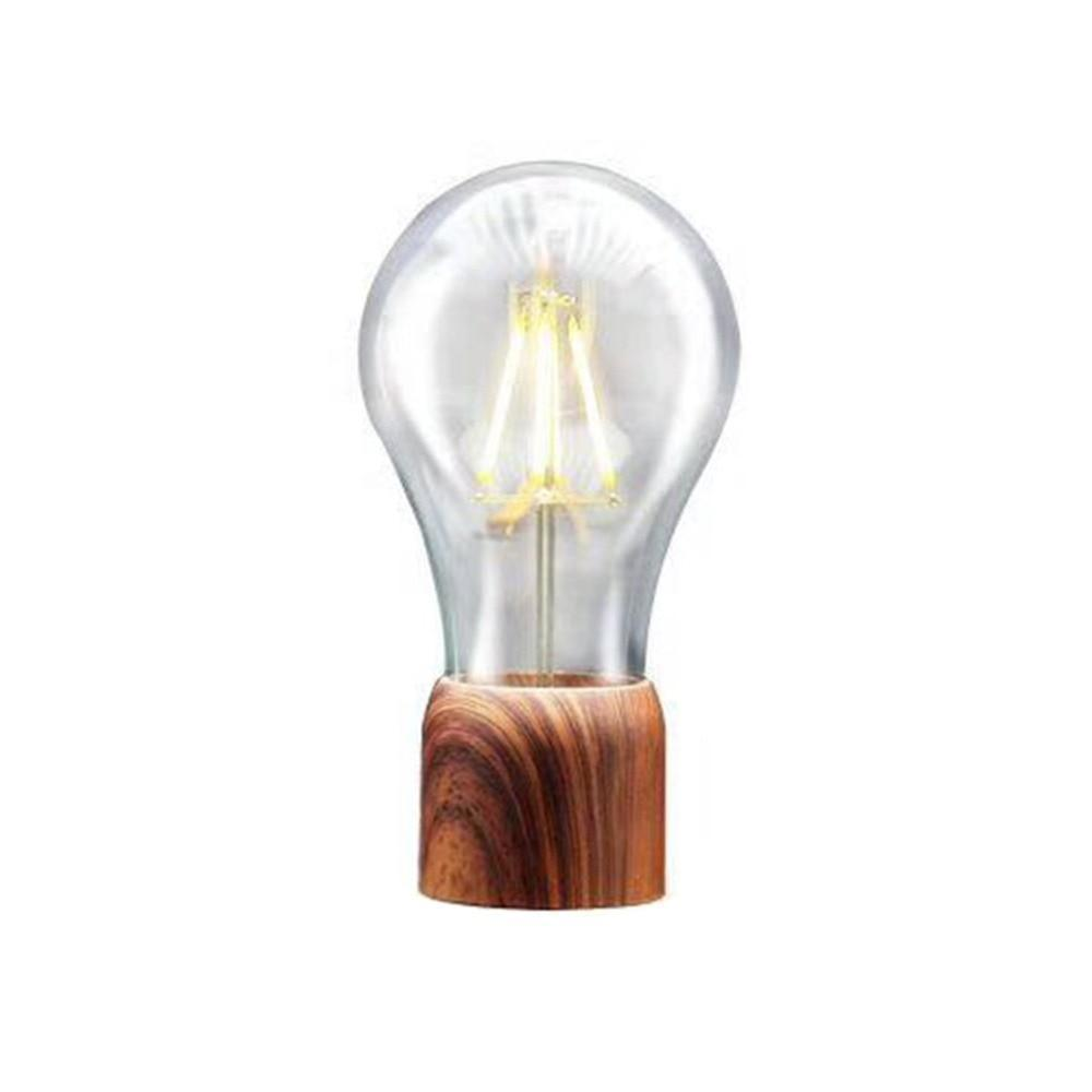 Unique Wooden Floating Light Bulb